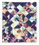 Geometric Grunge Pattern Fleece Blanket