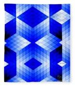 Geometric In Blue Fleece Blanket