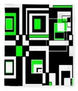 Geometric Pizazz 4 Fleece Blanket