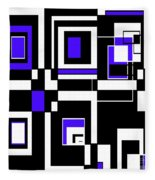 Geometric Pizazz 5 Fleece Blanket