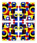 Geometric Shapes Abstract Square 2 Fleece Blanket