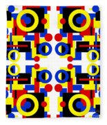 Geometric Shapes Abstract Square 3 Fleece Blanket