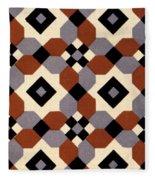Geometric Textile Design Fleece Blanket