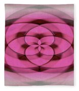 Geometrical Colors And Shapes 4 - Hearts Fleece Blanket