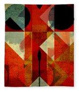 Geomix-04 - 39c3at22g Fleece Blanket