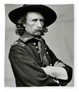 General George Armstrong Custer Fleece Blanket