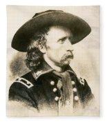 George Armstrong Custer  Fleece Blanket