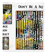 George Jetson Abstract - Don't Be A Square Fleece Blanket