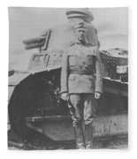 George S. Patton During World War One  Fleece Blanket