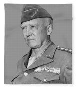 George S. Patton Fleece Blanket