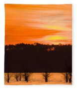 George T. Bagby State Park Sunset Fleece Blanket