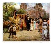 George Washington Arriving At Christ Church Fleece Blanket