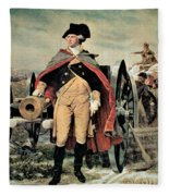 George Washington At Dorchester Heights Fleece Blanket