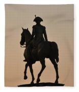 George Washington At Sunrise Fleece Blanket