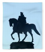 George Washington Monument Philadelphia Fleece Blanket