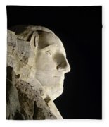 George Washington Profile At Night Fleece Blanket
