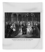 George Washington's Reception At White House - 1776  Fleece Blanket