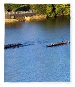 Georgetown Crew On The Potomac? Fleece Blanket