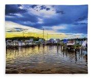 Georgetown Yacht Basin Fleece Blanket