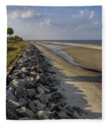 Georgia Atlantic Sea Barrier Fleece Blanket