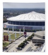 Georgia Dome In Atlanta Fleece Blanket