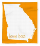 Georgia Is Home Base White Fleece Blanket