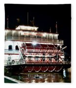 Georgia Queen Riverboat On The Savannah Riverfront Fleece Blanket