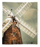 Georgian Stone Windmill  Fleece Blanket