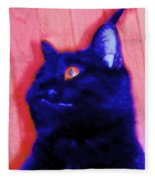 Gepetto The Cat Godzilla Fleece Blanket