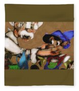 Geppetto And Pinochio Fleece Blanket