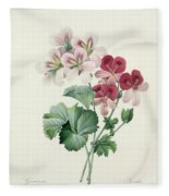 Geranium Variety Fleece Blanket