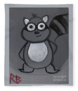 Gerard The Raccoon Fleece Blanket