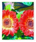 Gerbera Couple Fleece Blanket