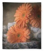 Gerbera Daisy Trio Fleece Blanket