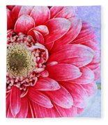 Gerbera Texture Fleece Blanket