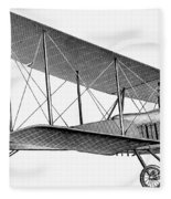 German Airplane, 1913 Fleece Blanket