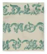 German Arabesque  Fleece Blanket