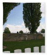 German Bunker At Tyne Cot Cemetery Fleece Blanket