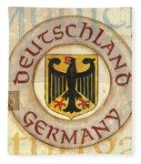German Coat Of Arms Fleece Blanket
