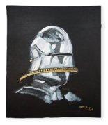 German Helmet Fleece Blanket