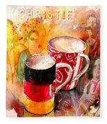 German Mugs And Christie Fleece Blanket