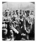 German Prisoners Of War Fleece Blanket