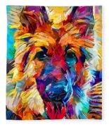 German Shepherd 6 Fleece Blanket