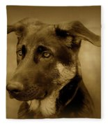 German Shepherd Pup Fleece Blanket