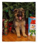 German Shepherd Puppy Card Fleece Blanket