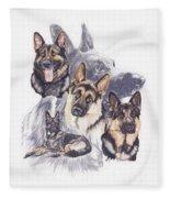 German Shepherd W/ghost Fleece Blanket