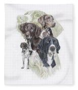 German Shorted-haired Pointer Revamp Fleece Blanket