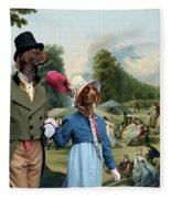 German Shorthaired Pointer - Kurzhaar Art Canvas Print - The Summer Party Fleece Blanket