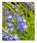 Germander Speedwell Fleece Blanket