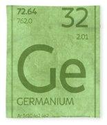 Germanium Element Symbol Periodic Table Series 032 Fleece Blanket